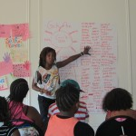Precious Pearls Summer 2012: Kymbali leading a creative writing session